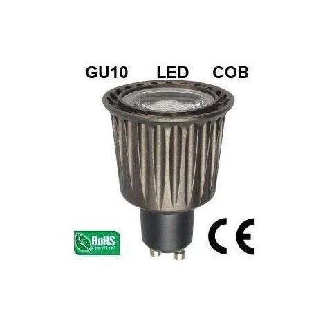 Ampoule LED GU10 COB 7W 480Lm (équiv 50W) Blanc Chaud 45° HIPOW