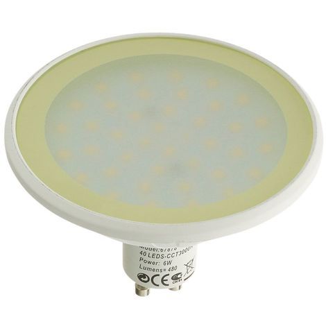 Ampoule LED GU10 MR30 Dimmable SMD 6W 480Lm (équiv 40W) Blanc Chaud EASY CONNECT - 67878
