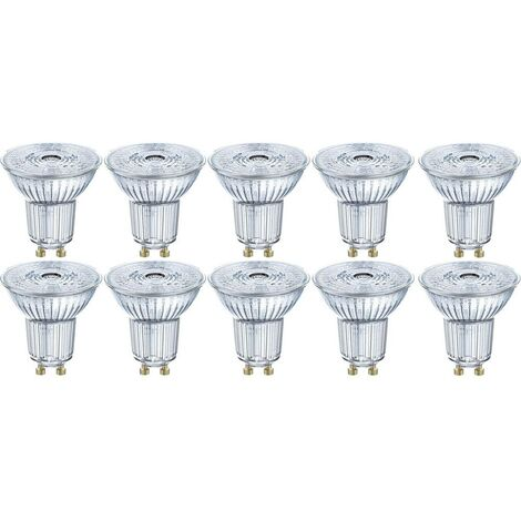 Ampoule LED GU10 OSRAM 4058075036697 4.3 W = 50 W blanc chaud (Ø x L) 51 mm x 55 mm 10 pc(s)