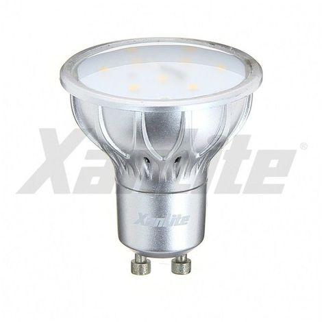 Ampoule LED GU10 SMD  5.5W  320Lm  (équiv 35W) Blanc Chaud 100° XANLITE - MG400SWW