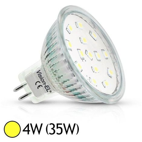 10 x MR16 35 W Watt GU5.3 Plafond Armoire Spot Lampe Ampoule Halogène Ampoules