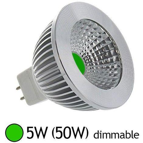 Ampoule LED GU5.3 - 5W COB Dimmable - Bleu, Rouge, Vert