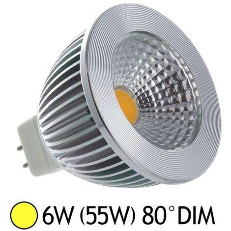 Ampoule LED GU5.3 - 6W COB Aluminium 80° Dimmable