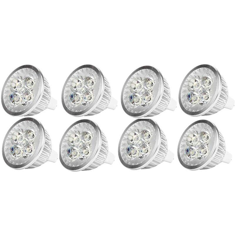 Ampoule LED MR16 4Watt Ampoule spot LED 12V 4W culot MR16 GU5.3, utilisée pour l'éclairage paysager, équivalent à une lampe halogène de 50 watts,