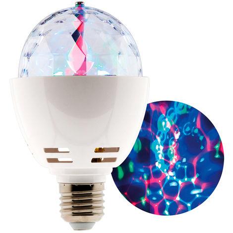 Ampoule LED multicolore 3W E27 rotative effet Disco