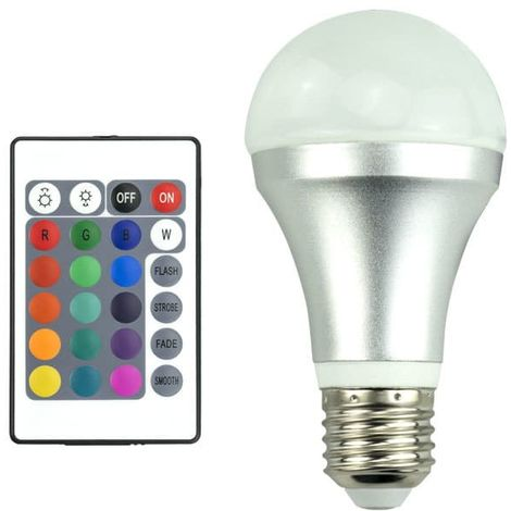 Changements Led A60 16 De Ampoule Multicolore Rgb 4wÀ BrxoeWCd