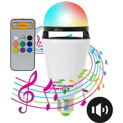 Ampoule LED musicale et multicolore RGB connectée bluetooth E27