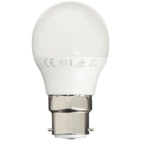 Ampoule LED P45, culot B22, 5,3W cons. (40W eq.), lumière blanc neutre | Xanlite