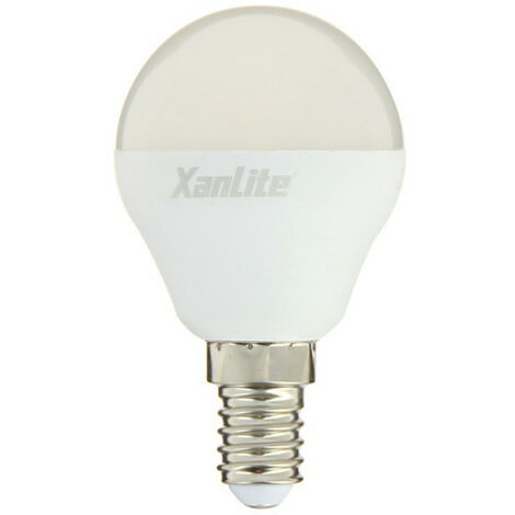 Ampoule LED P45, culot E14, 7W cons. (60W eq.), lumière blanc chaud | Xanlite
