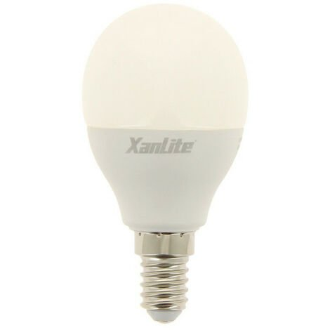 Ampoule LED P45, culot E14, 7W cons. (60W éq.), lumière blanc neutre | Xanlite
