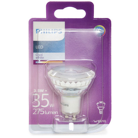 Ampoule LED Philips GU10 36D 3,5W 255Lm Blanc Froid | Blanc froid (PH-8718696562703-CW)