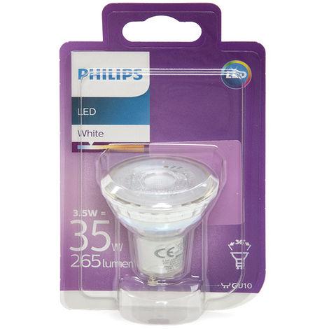 Ampoule LED Philips GU10 36D 3,5W 255Lm Blanc Neutre | Blanc Neutre (PH-8718696562680-W)
