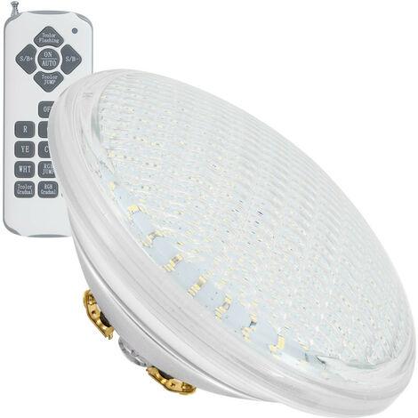 Ampoule LED Piscine Submersible PAR56 RGB IP68 12V AC/DC 35W RGB avec télécommande - RGB avec télécommande