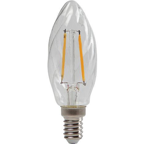 Ampoule LED rétro Flamme torsadée E14 2.5W 250lm
