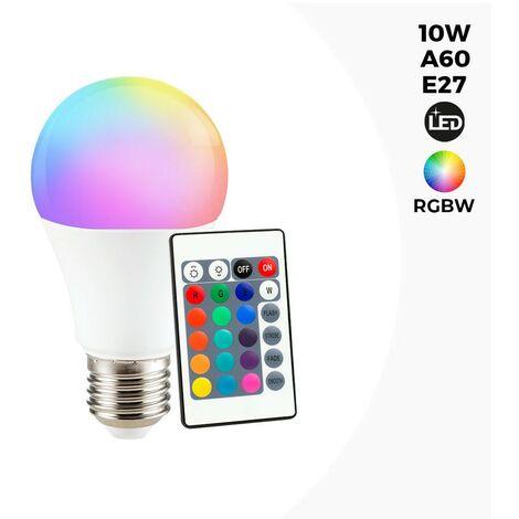 """main image of """"Ampoule LED RGBWW A60 E27 10W avec télécommande"""""""
