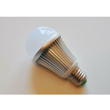 Ampoule LED Ronde E27 Pro Aluminium 6000K (Lumière jour) 7W (Rendu 60W) 600LM (RI16471)