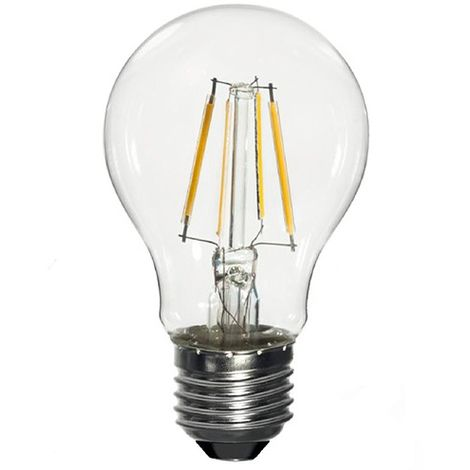 Ampoule LED-S19 Filament (compatible avec variateur) A60 E27 6.5W 230V 360° - 60W 2700K 806Lm - 2010 - Fox Light -  -