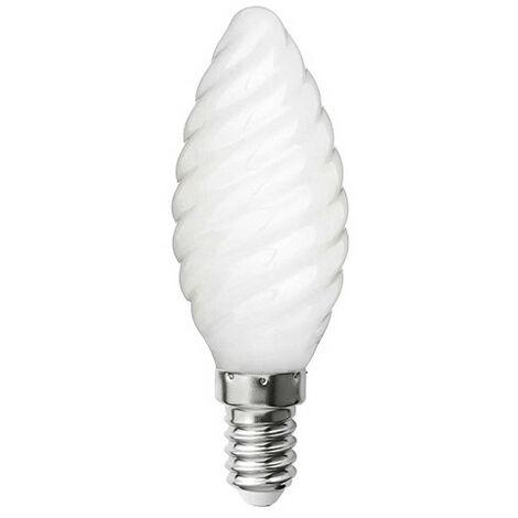 """main image of """"Ampoule LED-S19 filament flamme opaque torsadée CA 35 - E 14 - 4 W - 4 000 K - 425 Lm"""""""
