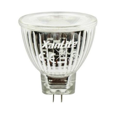 Ampoule LED spot, culot G4, 4W cons. (20W eq.), lumière blanche chaude | Xanlite