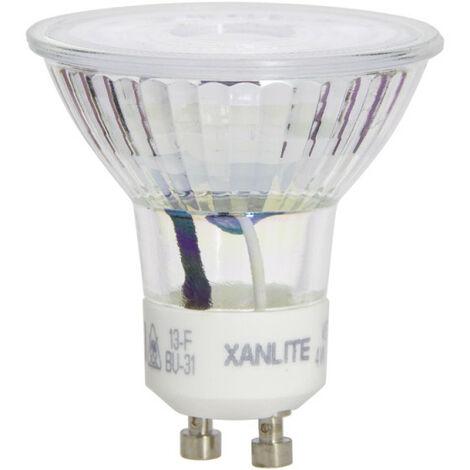 Ampoule LED spot, culot GU10, 4,5W cons. (35W eq.), lumière blanc chaud | Xanlite