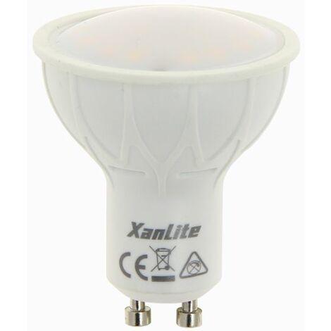 Ampoule LED spot, culot GU10, 5,5W cons. (35W eq.), lumière blanc chaud, 150 lumen en autonome | Xanlite