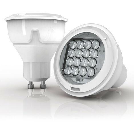 Ampoule LED spot, culot GU10, 6,1W cons. (50W eq), lumière blanc chaud | Xanlite