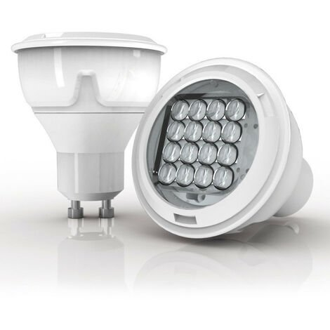 Ampoule LED spot, culot GU10, 6,1W cons. (50W eq), lumi�re blanc chaud