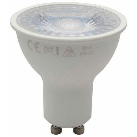 équiv. 40W halogène Pack de 10 GU10 ampoules à led 6W 2700K blanc chaud