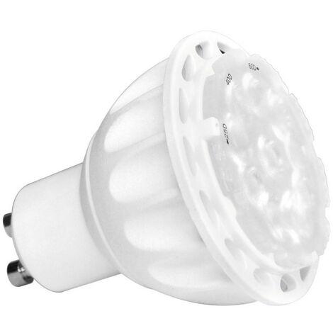 Ampoule LED spot, culot GU10, cons. 6W, lumière blanc chaud - angle de lumière ajustable | Xanlite