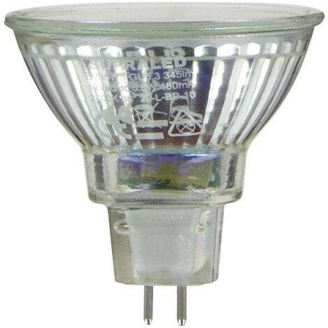 Ampoule LED (Spot), culot GU5,3, conso. 5,5W (eq. 35W), 345 lumens, blanc chaud | Xanlite