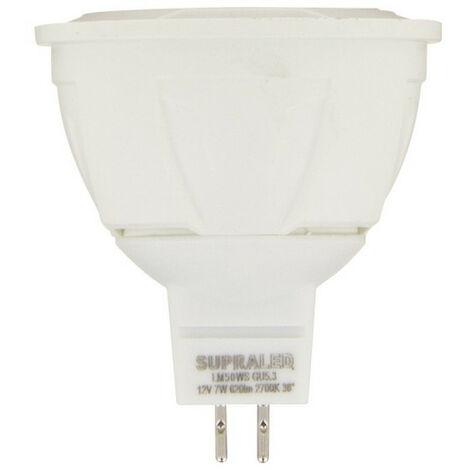 Ampoule LED (Spot), culot GU5,3, conso. 7W (eq. 50W), 620 lumens, blanc chaud | Xanlite