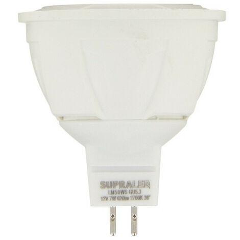 Ampoule LED (Spot), culot GU5,3, conso. 7W (eq. 50W), 620 lumens, blanc neutre | Xanlite