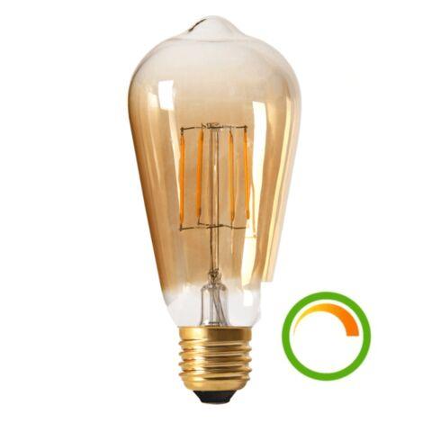 Ampoule LED style Edison compatible avec variateur - Culot E27 - Ambre