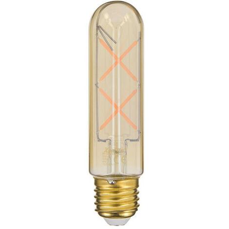 Ampoule LED (T125) Tube / Vintage au verre ambré, culot E27, 4W cons. (30W eq.), 323 lumens, lumière blanc chaud | Xanlite