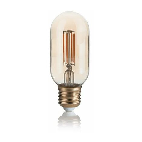 Ampoule LED tube Filament E27 300 lm ambre diamètre etroit - Marron