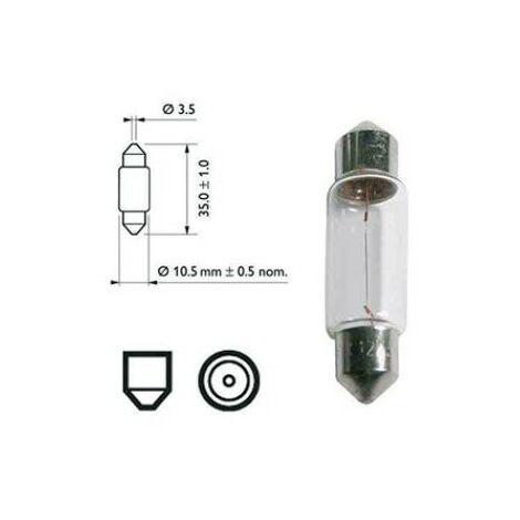 Ampoule navette 10W / 12v incandescent pour caravane ou camping car