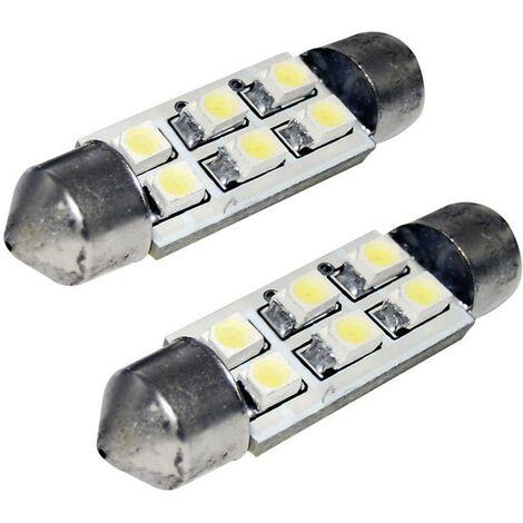 Ampoule navette LED Eufab LED SOFFITTE 41MM CAN-BUS 13295 S8.5 Puissance: 1 W