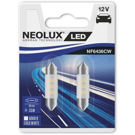 Ampoule navette LED Neolux NF3660 NF6436CW-02B SV8,5-8 Puissance: 0.5 W