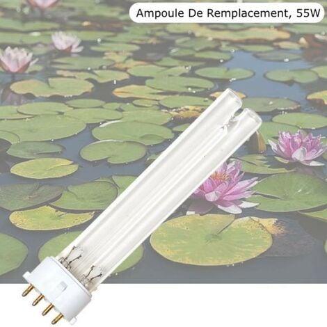 Ampoule Stérilisateur - Clarificateur UV 55W, Pour Aquarium, Bassin De Jardin