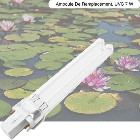 Ampoule Stérilisateur - Clarificateur UV 7W, Pour Aquarium, Bassin De Jardin