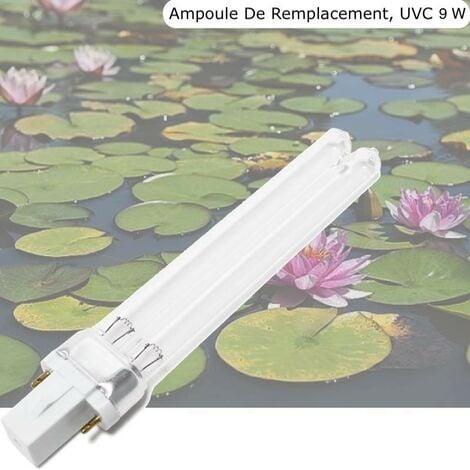 Ampoule Stérilisateur - Clarificateur UV 9W, Pour Aquarium, Bassin De Jardin