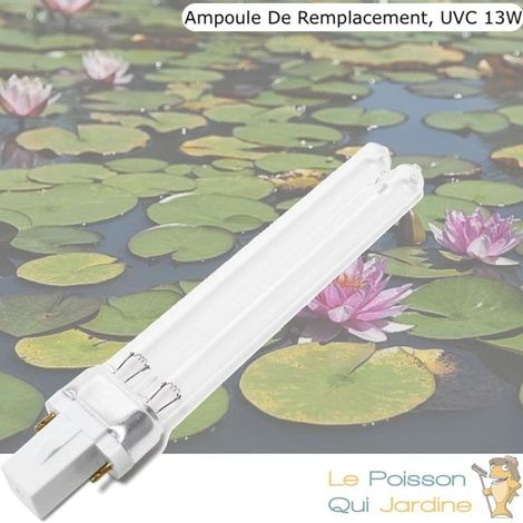 Ampoule UV 13W, Stérilisateur - Clarificateur Pour Aquarium, Bassin De Jardin