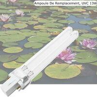 Ampoule UVC de rechange 13W pour aquarium ou bassins de jardin