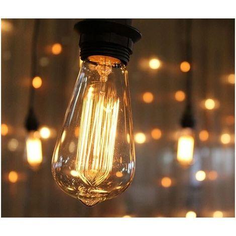 Ampoule vintage 40W bulb Edison E27 ST64 incandescente filaments apparents
