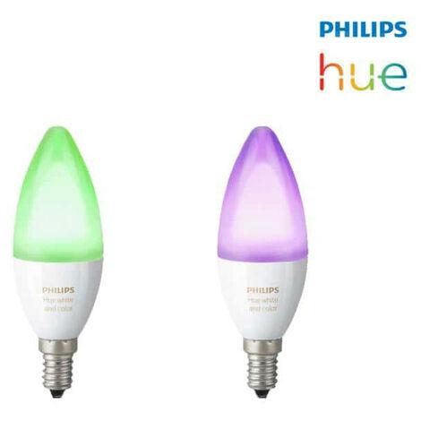 Ampoules connectées PHILIPS HUE E14 x 2 - Multicolore
