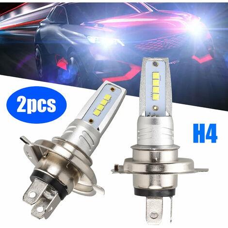 Ampoules de phare H4 LED, 2PCS H4 9003 Kit de conversion d'ampoule de phare LED - 40W 8000LM faisceau Hi-Lo extrêmement lumineux 6000K CREE Chips Kit de conversion de remplacement de phare halogène - Blanc pur