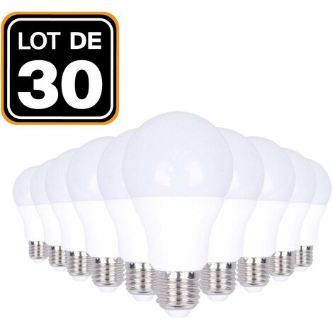 Ampoules LED E27 15W 6000K par Lot de 30 Haute Luminosité