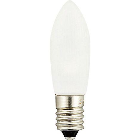 Ampoules LED Konstsmide, gelées, lot de 3 sous blister, couleur blanc chaud, 14 - 55 V, 0,2 W, culot à vis E10 D35830