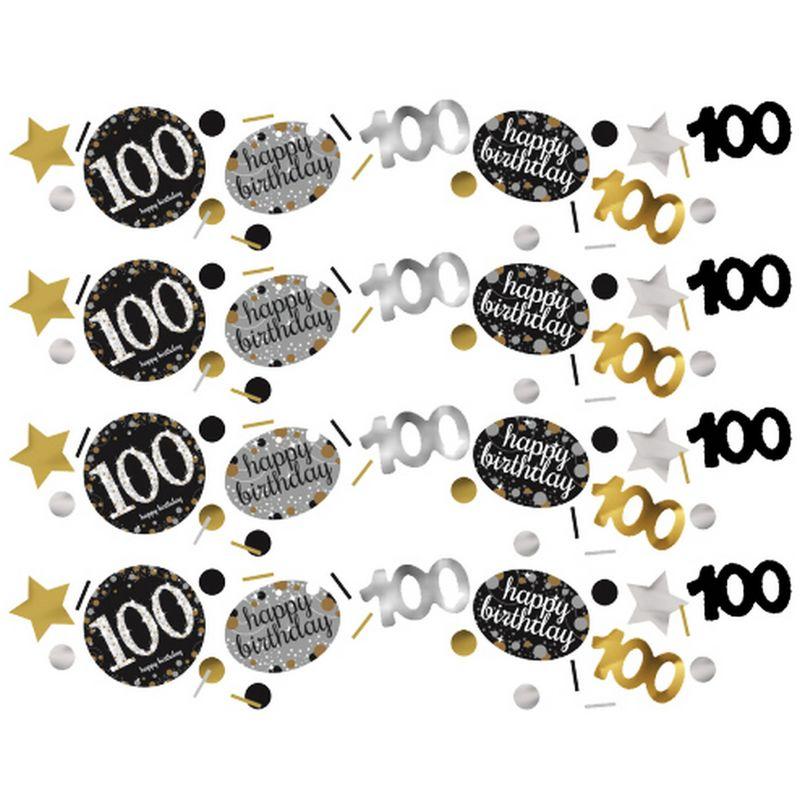 Image of 100 Celebration Sparkling Confetti (One Size) (Multicoloured) - Amscan