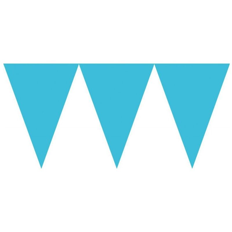 Image of 15 Feet Paper Pennant Banner (One Size) (Carribean Blue) - Amscan